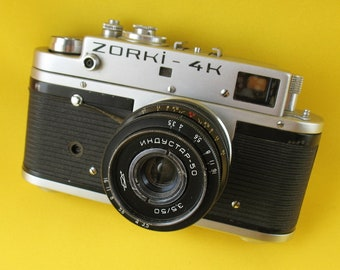 CAMERA ZORKI 4K with Lens Industar- 50 3.5/50 #75011920 Russian Soviet Lens USSR