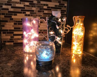 Assorted colored night lights