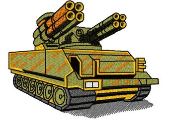 War Military Tank Machine Embroidery Design, Instant Download, 4x4 Hoop, 6 Formats