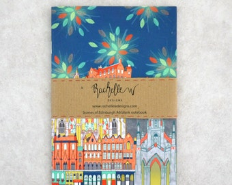 "Colourful ""Scenes of Edinburgh"" Blank page Notebook"