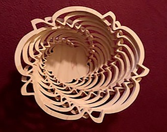 Fruit Bowl - Spiral Bowl - Decorative Bowl - Candy Dish - Artwork - Scrollwork
