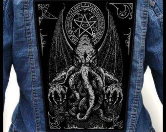 CTHULHU #2 === Backpatch Back Patch / H.P. Lovecraft Necronomicon