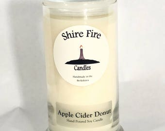 Apple Cider Donut Scented Soy Candle 22 oz--Cider Donut Gift--Fresh Baked Donuts--Fall Gift--Berkshire Gift