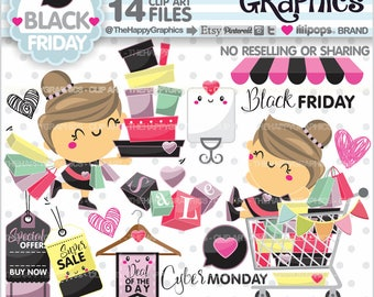Shopping Clipart, 80%OFF, Shopping Graphics, COMMERCIAL USE, Black Friday, Shop Graphics, Shopping Girl, Store, Shopping Day, Cyber Monday