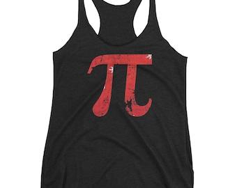 Cute Pi Day 3.14 Funny Math Geek Nerd Racerback