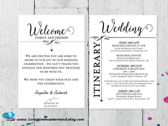 Wedding Welcome Bag Letter Template Altin Northeastfitness Co