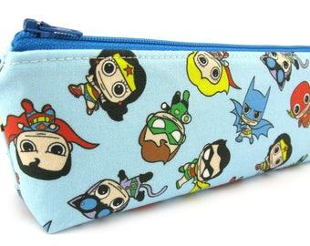 Superhero Pencil Case - Pencil Pouch - Zip Pouch - Small Bag - Zipper Pouch - Planner Pencil Case Organiser - Kids Pencil Case
