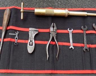 AUSTIN 7 Part Tool Kit, Austin Spanners,Pliers,Screwdriver,Enots Grease Gun etc