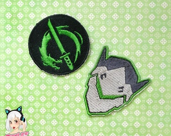 Genji Dragon Overwatch Embroidery Patch Set
