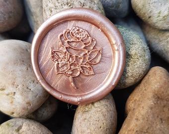 rose wax seal, self adheasive wax seal,invitation wax seal, rose gold wax seal, wax seals, envelope seals, wax seal, floral wax seal,