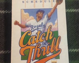 Vintage Kansas City Royals 1990 Pocket Schedule