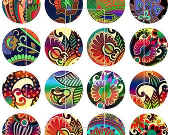 "Native American Magnets, Native American Pins, Indian Design Pins, Indian Design Magnets,  1"" Flat, Hollow Backs, Cabochons"
