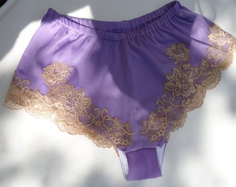 French knickers, satin knickers, satin panties, lace lingerie, lingerie, vintage lingerie, silk lingerie