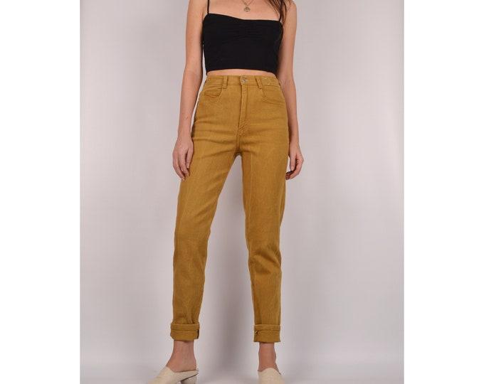 "80's Mustard High Waist Jeans / 26""W"
