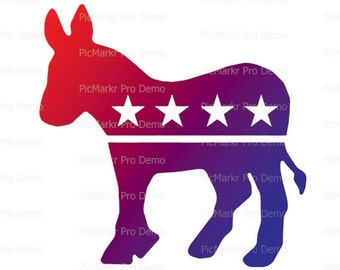 Democratic Donkey Election Birthday - Edible Cake and Cupcake Topper For Birthday's and Parties! - D21732