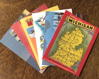 Box Set of Six Greetings from Michigan Cards and Envelopes