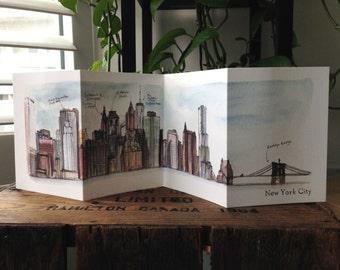 New York Skyline Accordion Card
