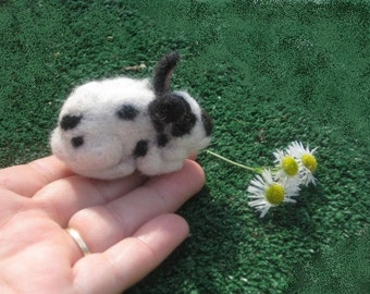 Needle Felted Animal /  Felt Miniature Rabbit by Gourmet Felted small size