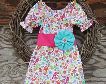 Girls Dress, Girls Easter Dress, Girls Pink Dress, Kids Pink Dress, Spring Dress