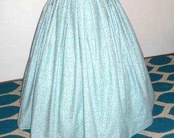 """Civil War Hoop Skirt/ Pleated Victorian Skirt / 48"""" Waist/ Hoop Skirt"""