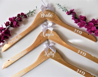 Bridesmaid Hanger, Wedding Hanger, Bridesmaid Gift, Dress Hanger, White Wood Hanger, Will you be my gift, Bridesmaid Proposal, Personalized