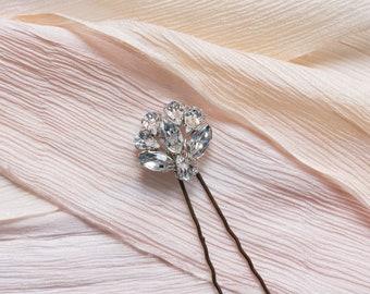 Alana hair pin - bridal hair pin, bridal headpiece, crystal hair pin, Swarovski hair pin, vintage hair pin, bridesmaid hair pin, hair pin.