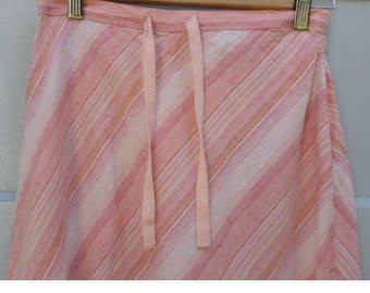 Striped, summer, linen, lagenlook, country girl, beachy maxi skirt