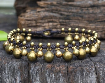 Jingling Brass Bell Anklet/ Bracelet