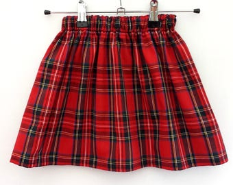 Girls Tartan Skirt, Girls Skirt, Girls Party Skirt, Tartan Clothing, Tartan Outfit, Christmas Clothes, Summer Skirt, Christmas Outfit, Skirt