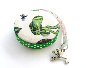 Tape Measure With Dragonflies and  Frogs Retractable Measuring Tape