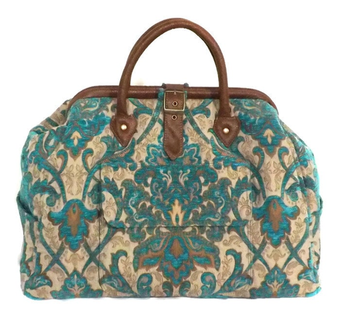 Mary Poppins Style Large Custom Carpet Bag Travel Bag