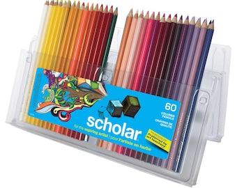 Prismacolor Scholar Colored Set of 60 Pencils; Drawing, Blending, Coloring Books, Prismacolor Arts Crafts