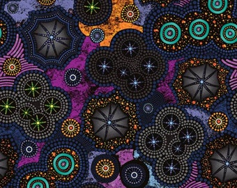 Paintbrush Studio - Walkabout 2 - Milky Way Geo - Purple - Fabric by the Yard 120-14361