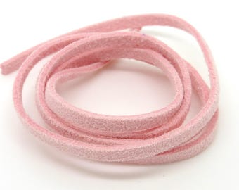 Suede, lace, pink, 3 mm