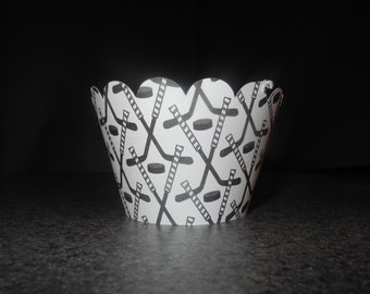 Hockey Athlete Sports Cupcake Wrappers- Set of 12