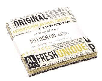"""Authentic Charm Pack by Sweetwater for Moda, 42 - 5"""" squares"""