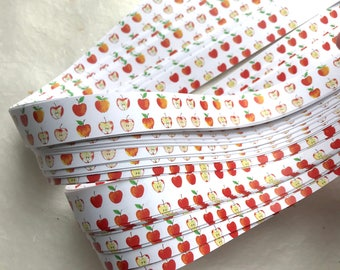Apples~ Moravian German Froebel Star Paper (52 strips)
