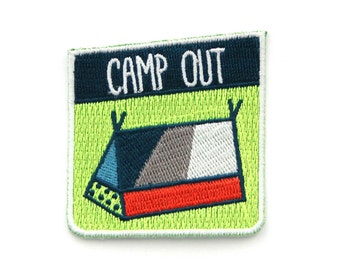 Camp Out Iron On Patch