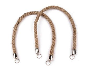 52 cm raw rope bag handles