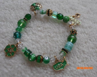A GREEN WORLD Beaded Bracelet