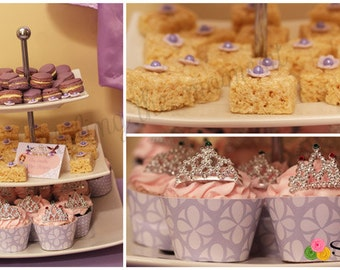 Sofia the First Inspired Cupcake Wrappers