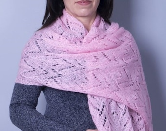 Elegant and gentle mohair shawl