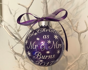 1st Christmas as Mr and Mrs Bauble