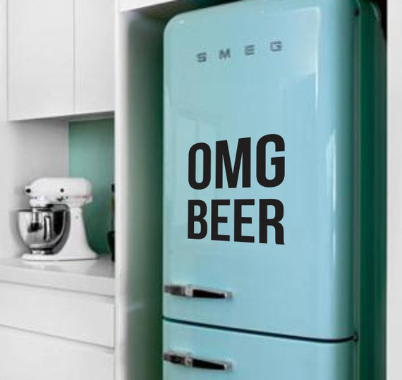 Omg beer fridge sticker vinyl decal alcohol drink fridge sticker decal vintage retro funny sticker mini fridge sticker refrigerator decal from