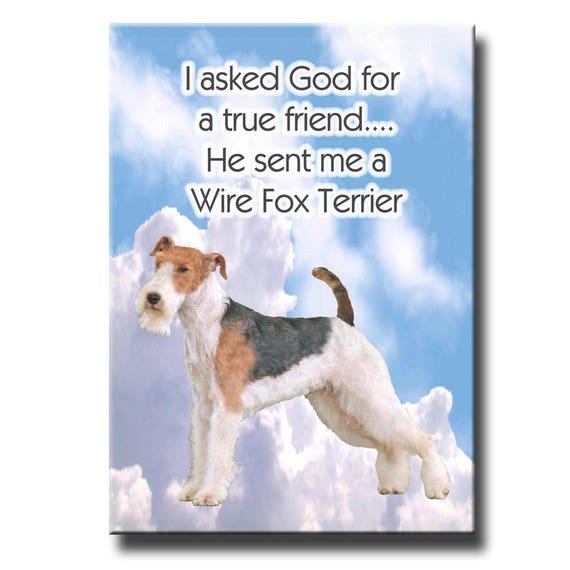 Wire Fox Terrier True Friend Fridge Magnet No 2