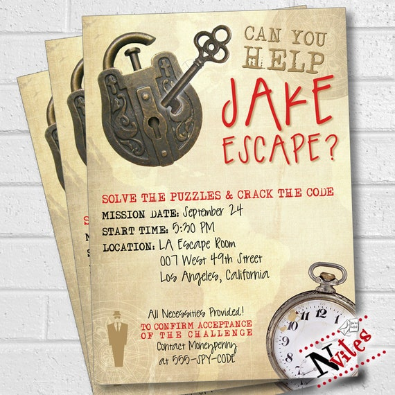 Escape room party invitation escape room party escape party for Escape room party