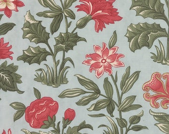 Moda UNDER THE MISTLETOE Quilt Fabric 1/2 Yard By 3 Sisters - Frost 44070 14