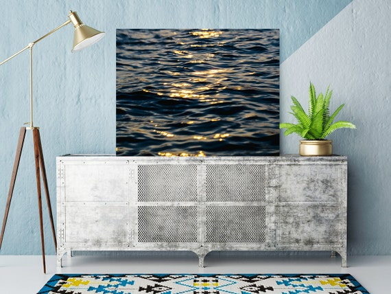 Coastal Art, Abstract Water Photo, Sunset Water Sparkles Print, Sun and Water Photo, Beach Art, Coastal Home Decor, Modern Art Photography