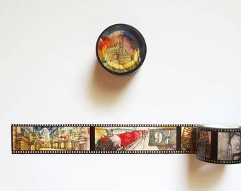 Full Roll of Fan-Illustrated Washi Tape, Fandom, Iconic Places Washi Roll