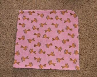 XL Pink Giraffe Receiving Blanket